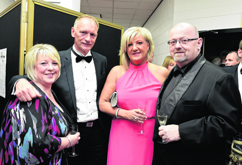 Susan Watts, Jim Leighton, Diane Leighton and Martyn Watts at the Trades Awards 2015