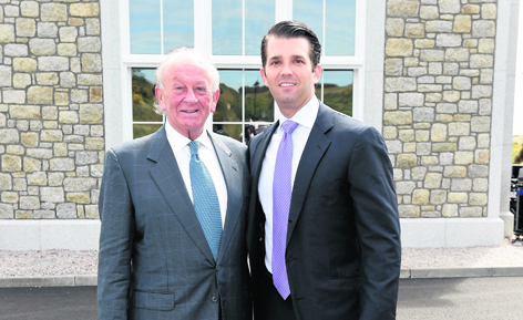 Stewart Spence and Donald Trump jun at the official opening of the new clubhouse at Trump International Golf Links