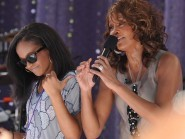 Bobbi Brown and her mother Whitney Houston