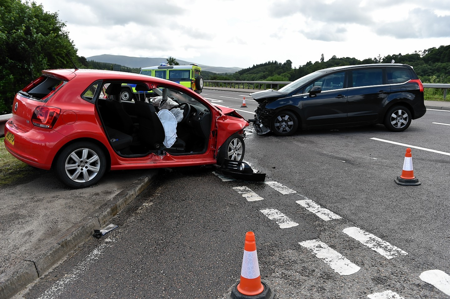 Two women taken to hospital after two-car Speyside ...