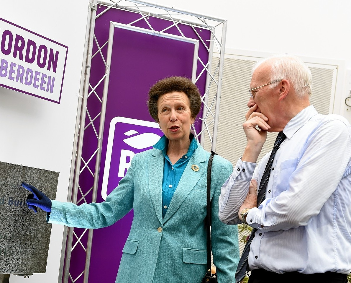 Princess Anne and Sir Ian Wood at the official opening. Picture by Kami Thomson