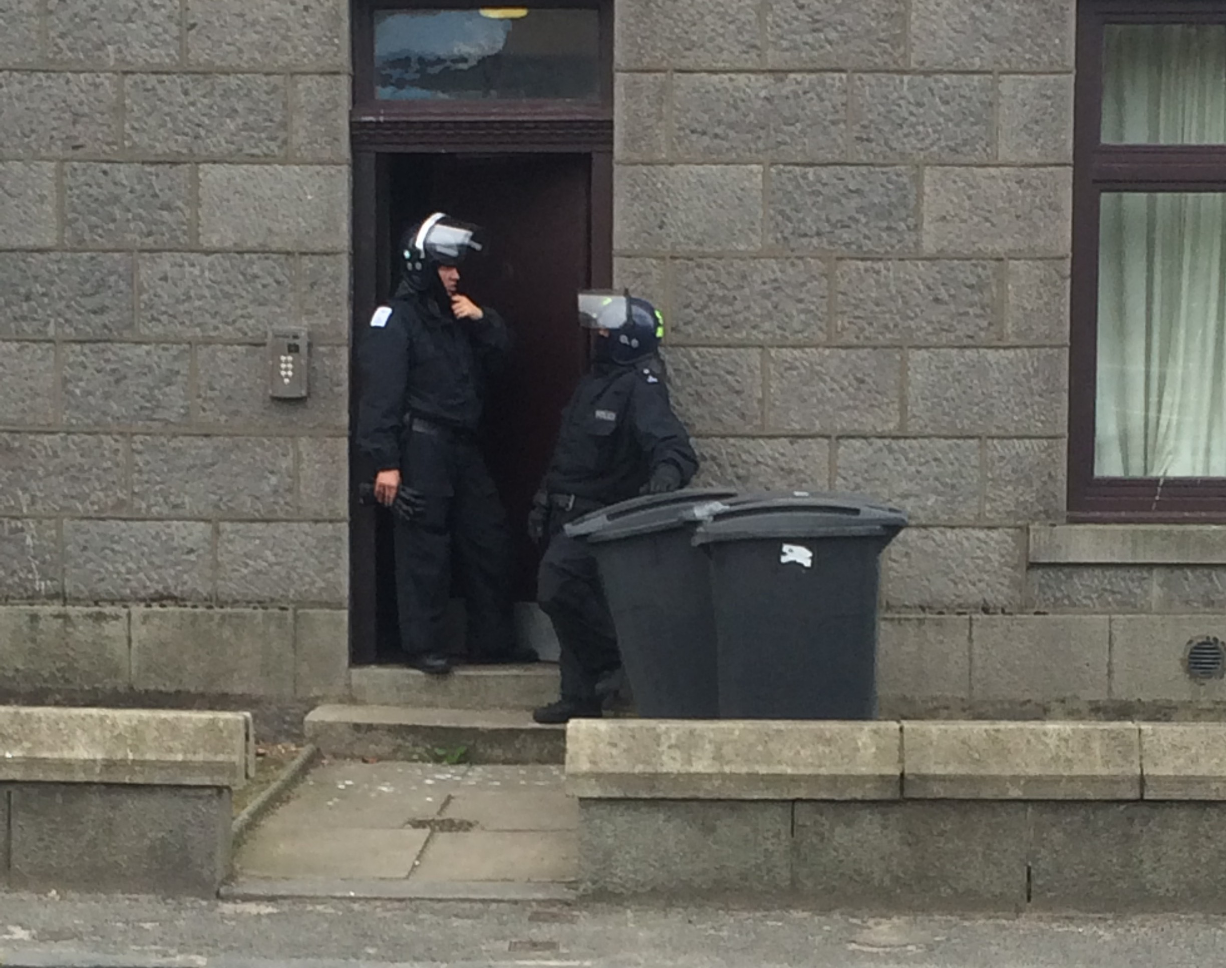 Police swoop on the property in the Kittybrewster area of the city last night
