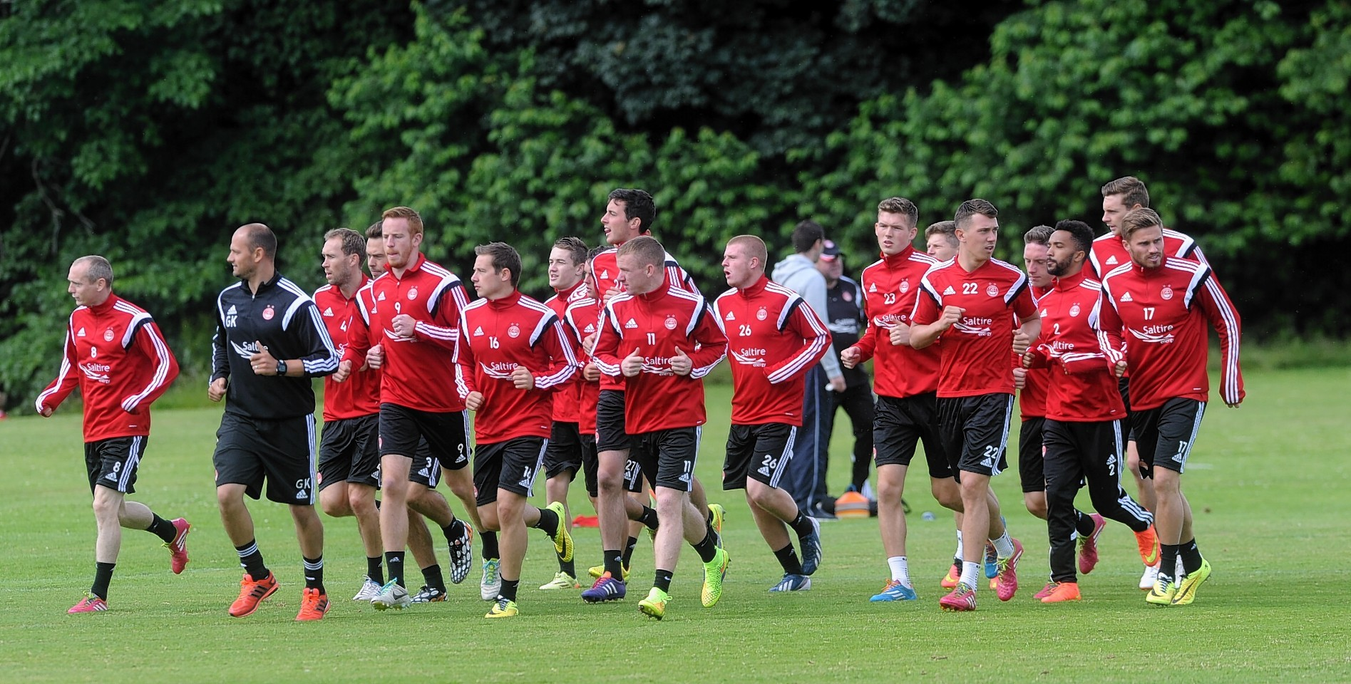 Dons training at Balgownie Playing Fields