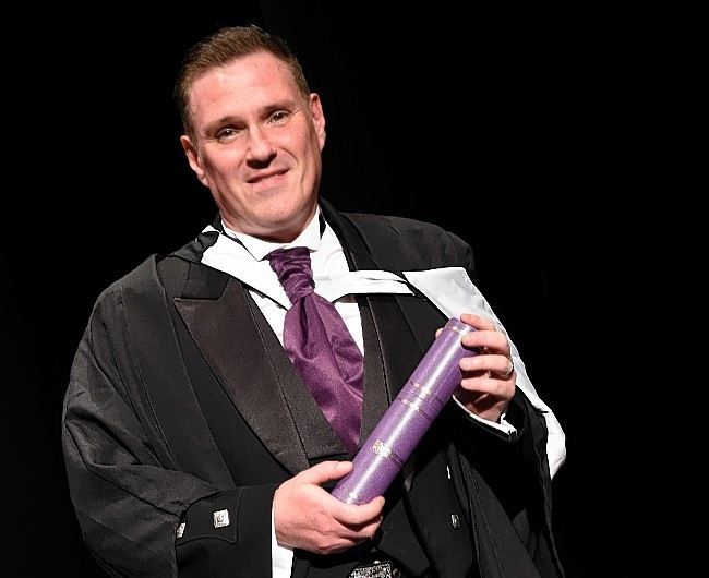 RGU Graduations at HMT friday morning ;  Pictured - Johnny Craig of Aberdeen.      Picture by Kami Thomson    17-07-15