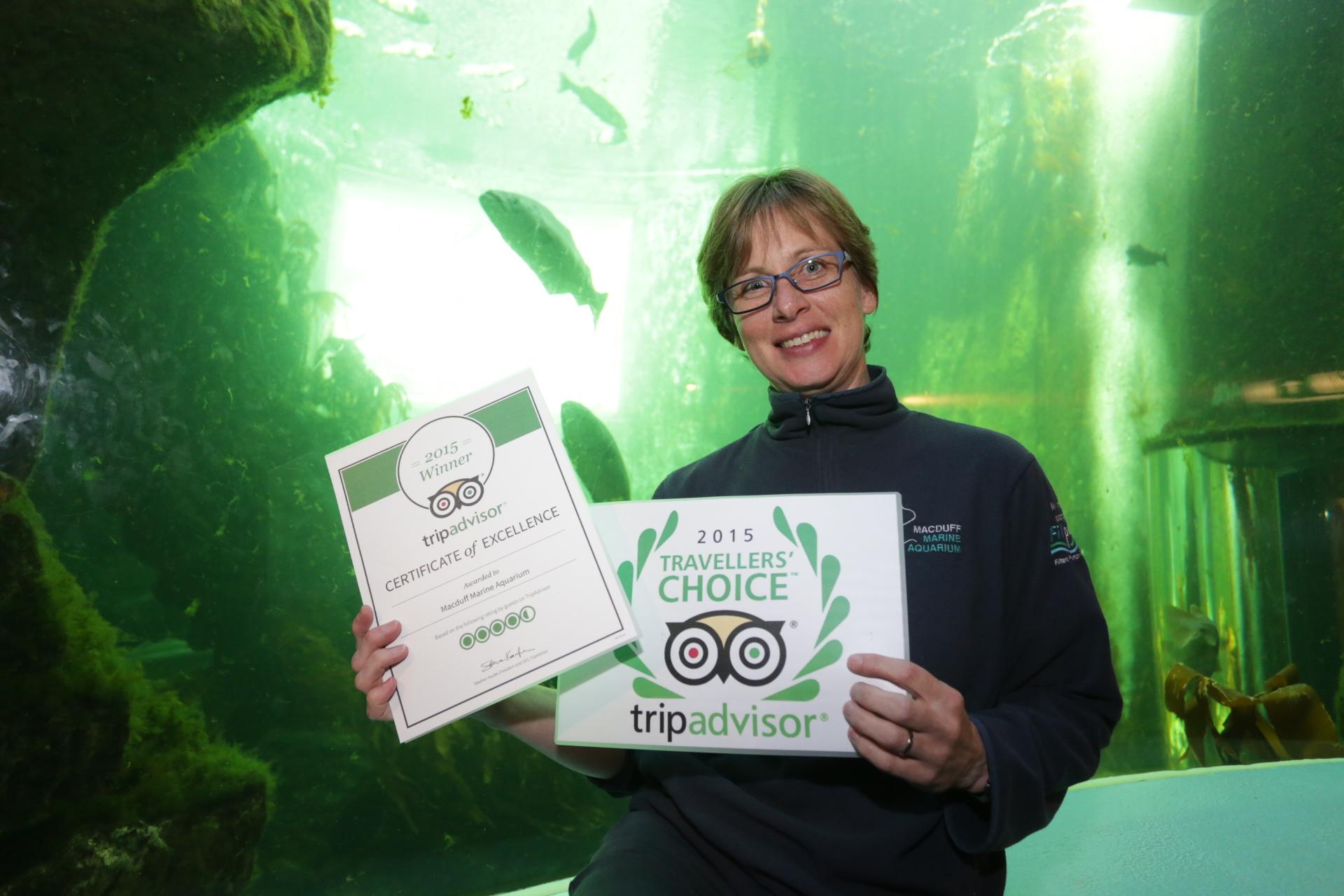 Claire Matthews, education officer for Macduff Marine Aquarium