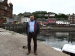 Derek Connery new Bid4oban manager on the North Pier Oban picture kevin mcglynn