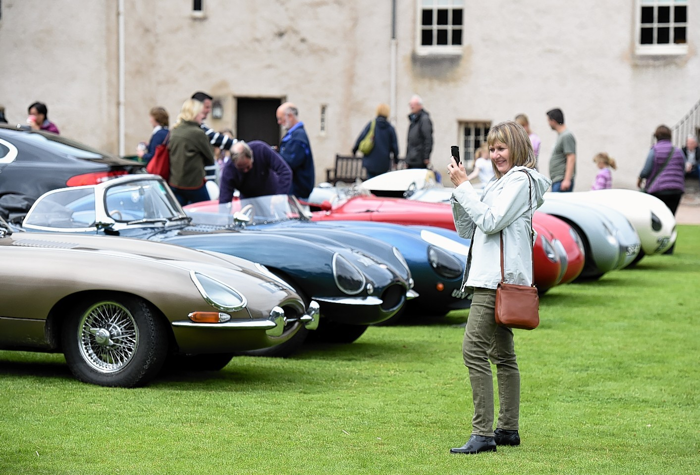 The Jaguar Enthusiasts Club, Grampian Region, Annual Gathering at Drum Castle, Drumoak, Aberdeenshire.      Pictured - GV.     Picture by Kami Thomson