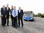 A new bus interchange has been opened at Dyce Railway Station