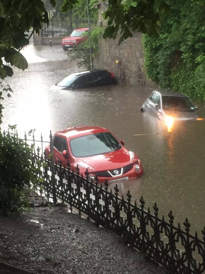 North-east floods picture by David Wynn