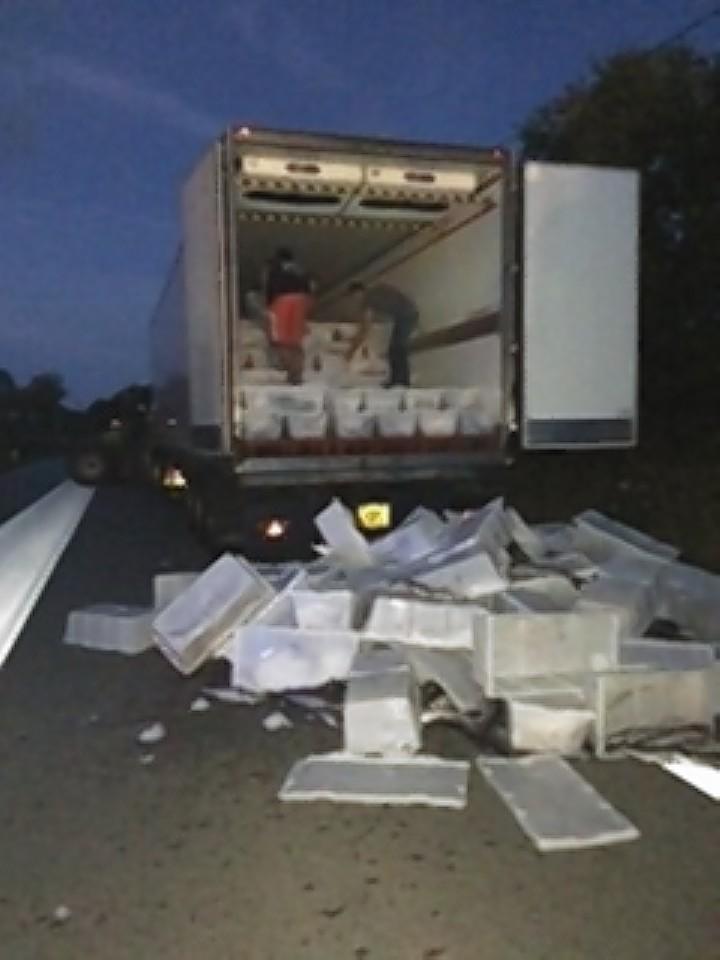 Cargoes worth £200,000 were destroyed