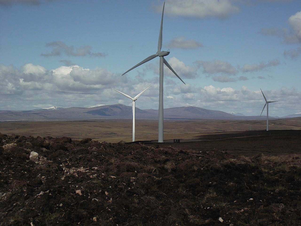 Gordonbush Windfarm, near the proposed Kintradwell site
