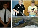 Blair McMaster has posted pictures of two children  holding automatic weapons to his Facebook page
