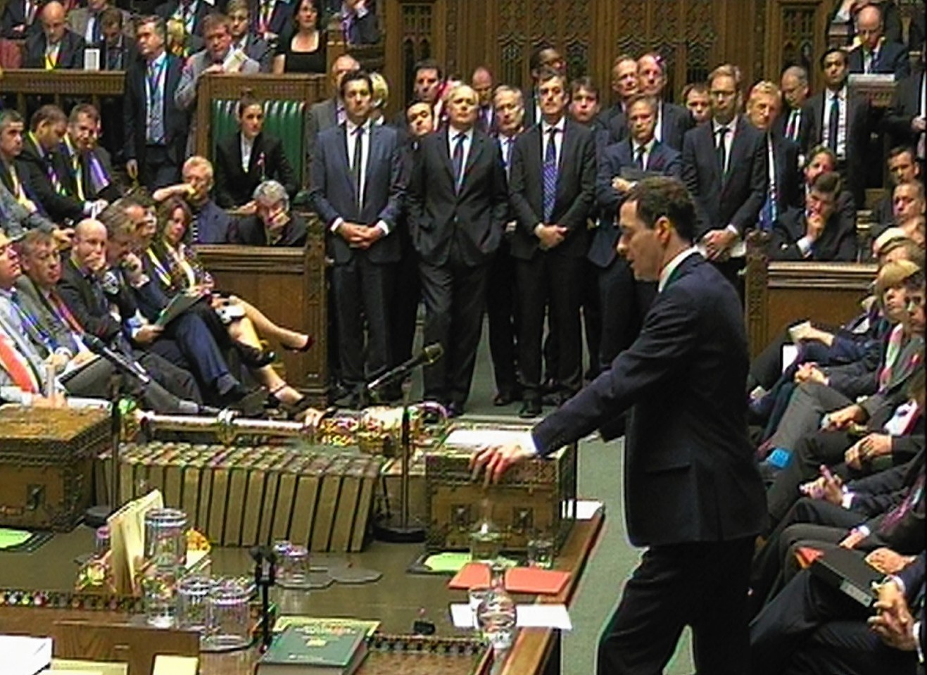 Chancellor of the Exchequer George Osborne delivers his Budget statement to the House of Commons
