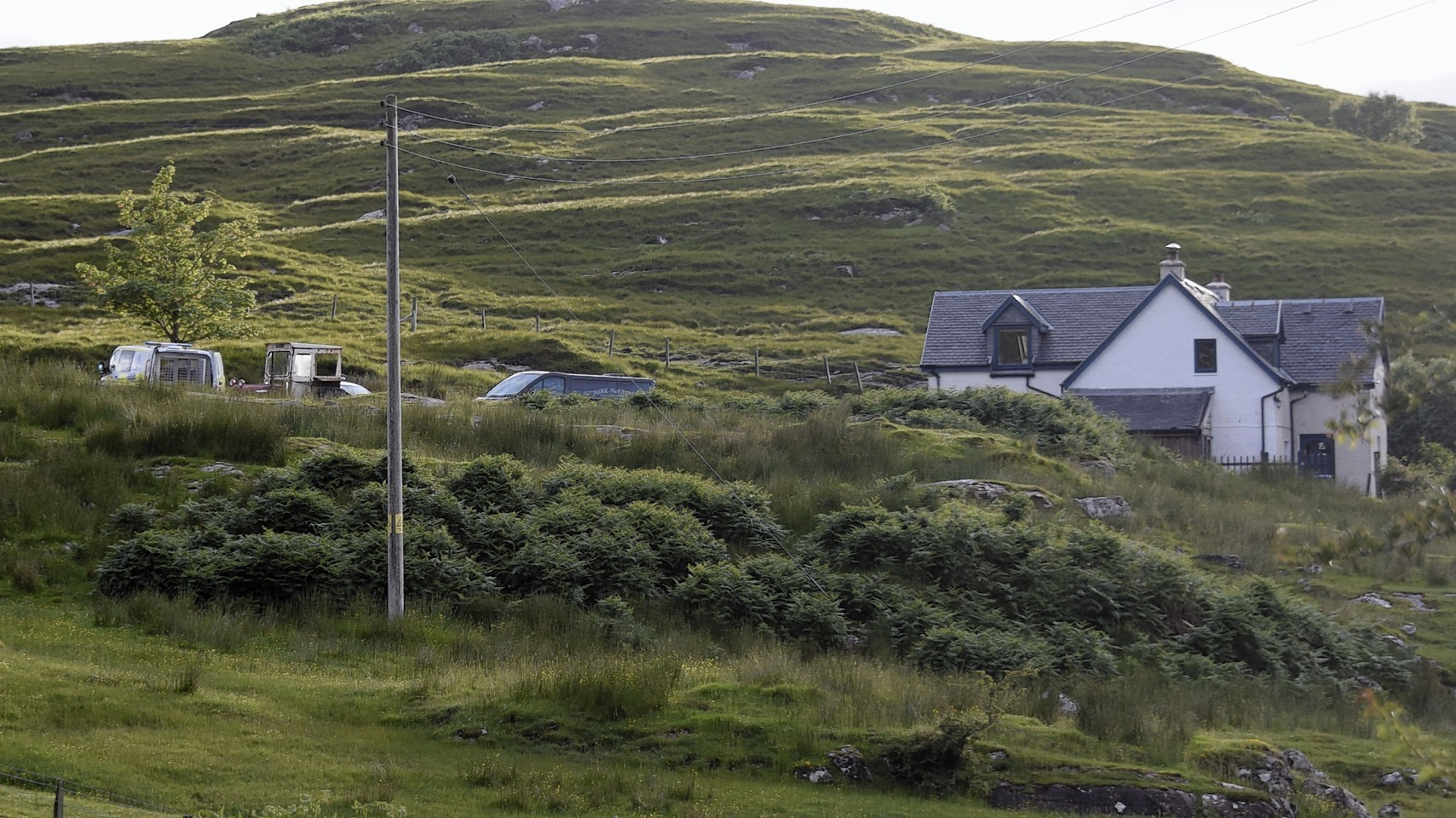 The house in Glenuig where the woman's body was found