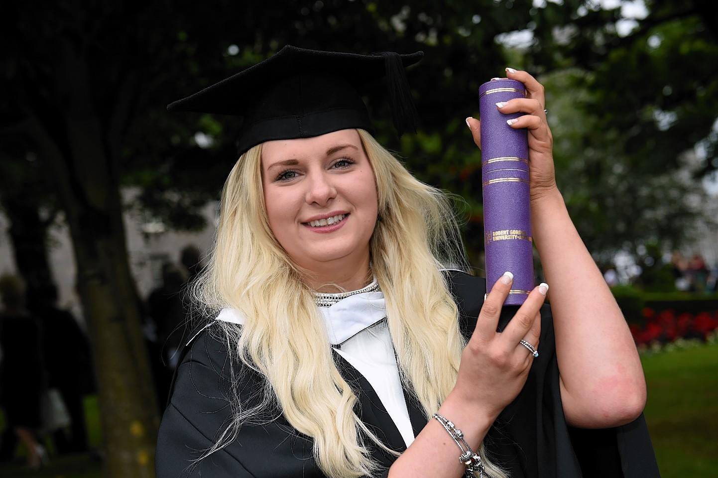 Robert Gordon University (RGU) Graduation at His Majesty's Theatre in Aberdeen - Sarah McNeil