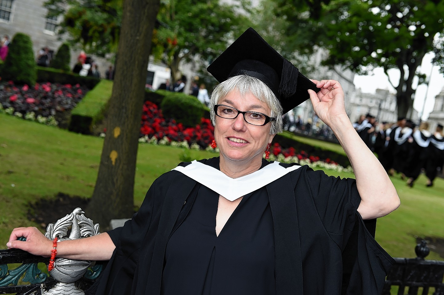 RGU Graduations at HMT wednesday morning ;  Pictured - Joan Sandison of Shetland.      Picture by Kami Thomson    16-07-15