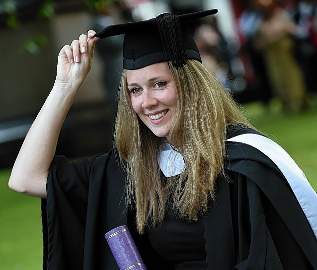RGU Graduations at HMT friday afternoon ;  Pictured - Katrine Black of Portmahomack.      Picture by Kami Thomson    17-07-15