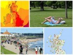 Temperatures have rocketed across the country today