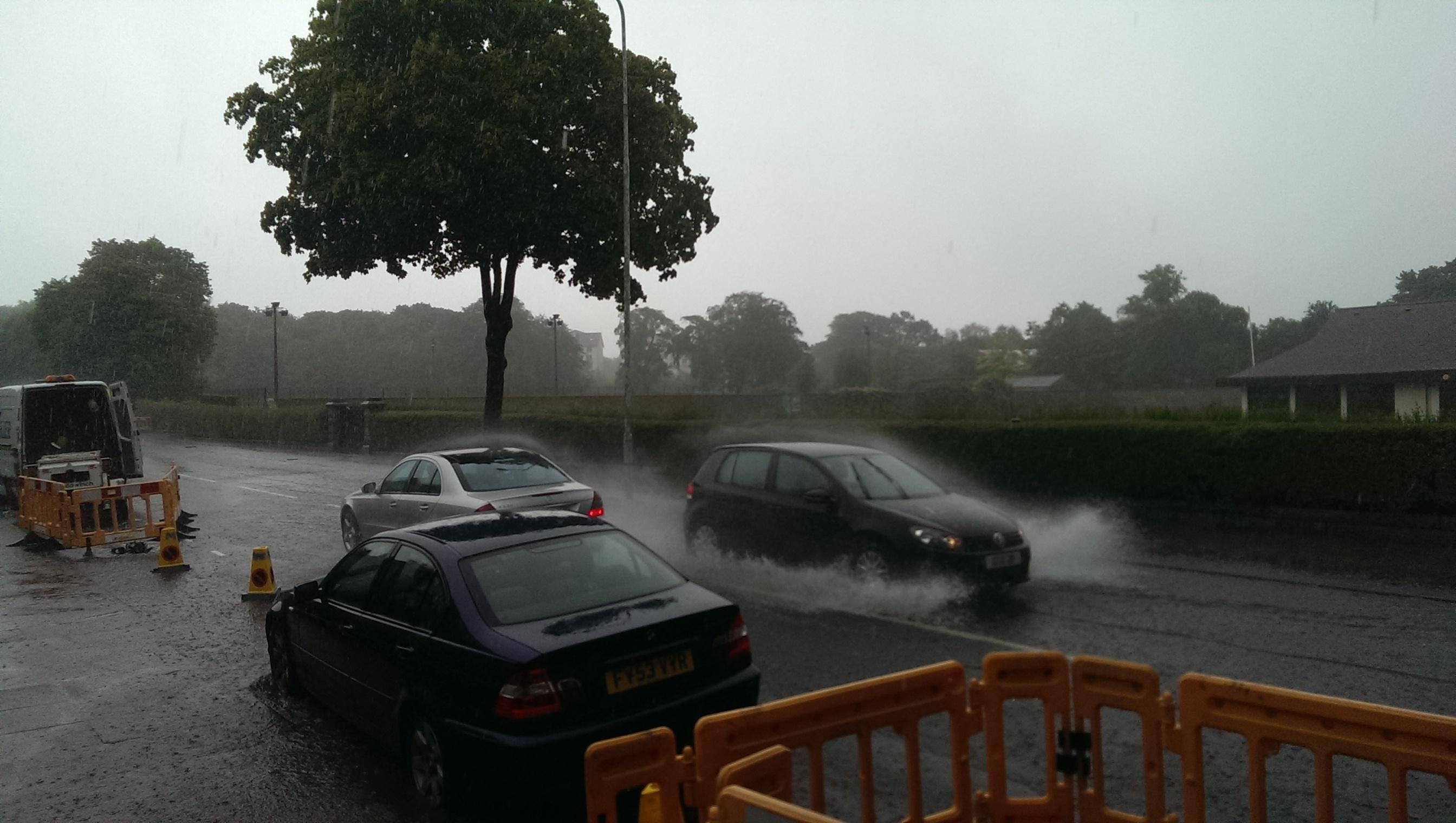 Surface water on Westburn Road, Aberdeen
