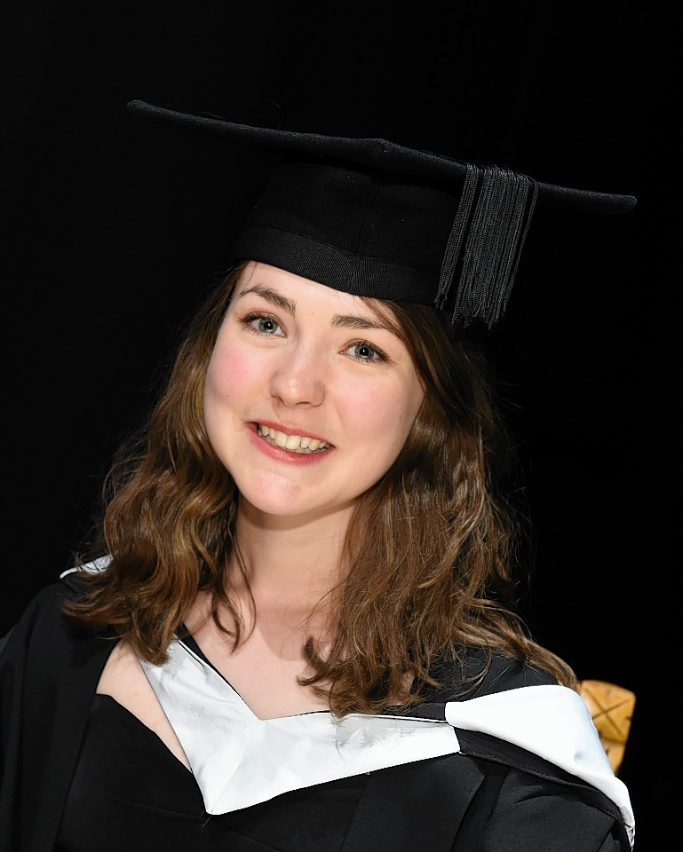 RGU Graduations at HMT friday morning ;  Pictured - Hannah Murray of Inverness.      Picture by Kami Thomson    17-07-15