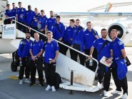 Looking ready for their first European away game