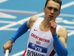 Jamie Bowie competing for Great Britain
