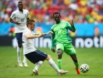 Juwon Oshaniwa, in action for Nigeria against France, looks set to join Hearts