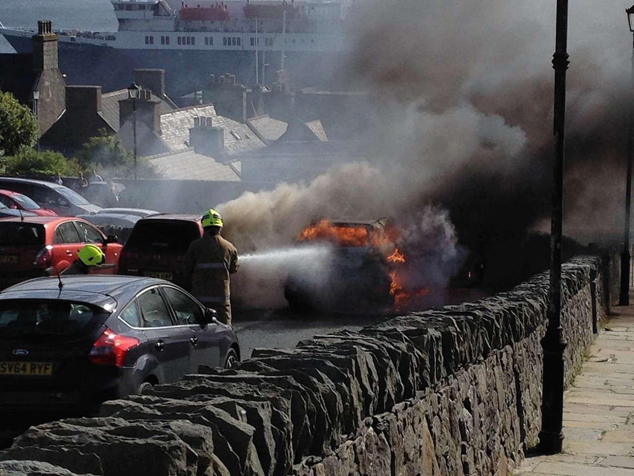 Car Destroyed By Blaze In Lerwick Press And Journal