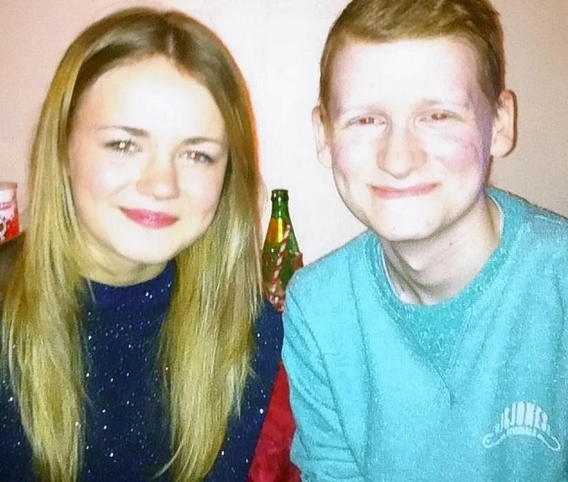 Lilian MacDonald with her boyfriend Keiran MacRonald