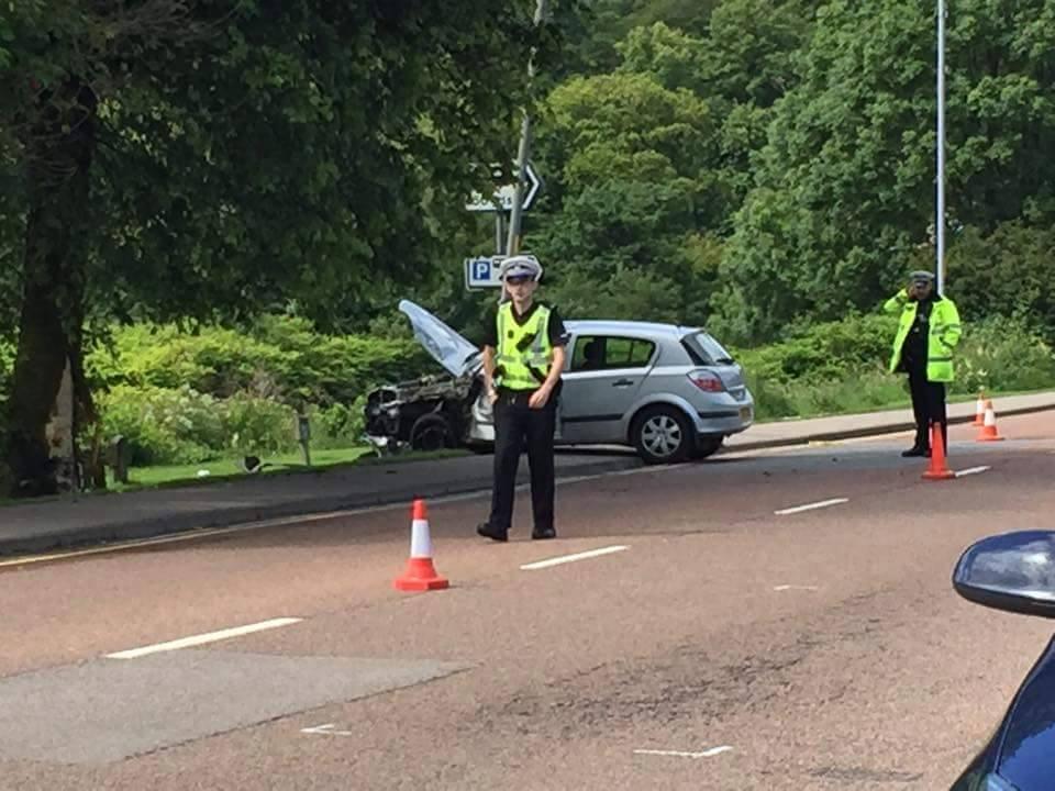 Lochgilphead crash, Police are on the scene