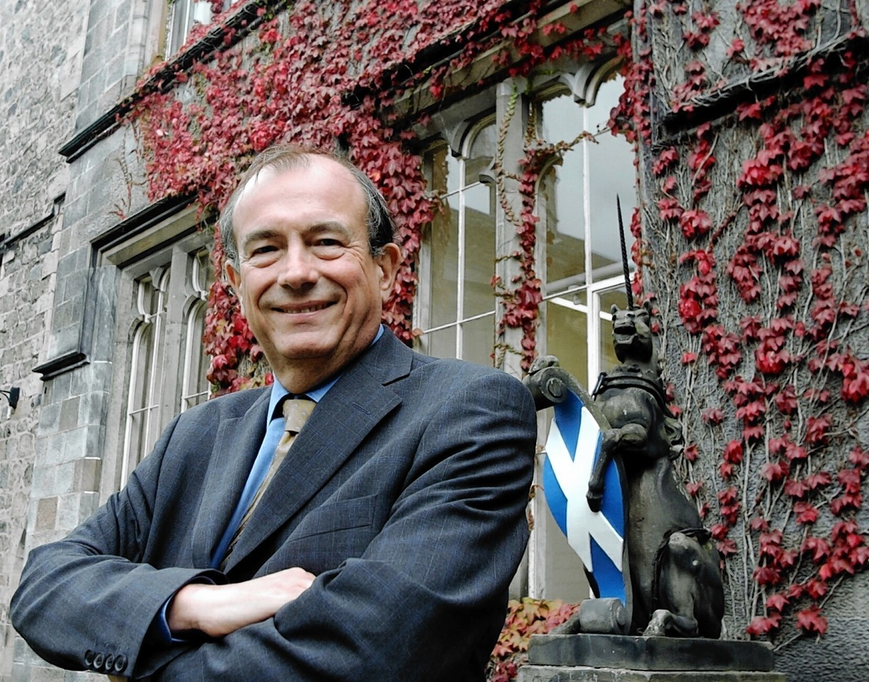 Lord Sewel at the Aberdeen University quadrangle.