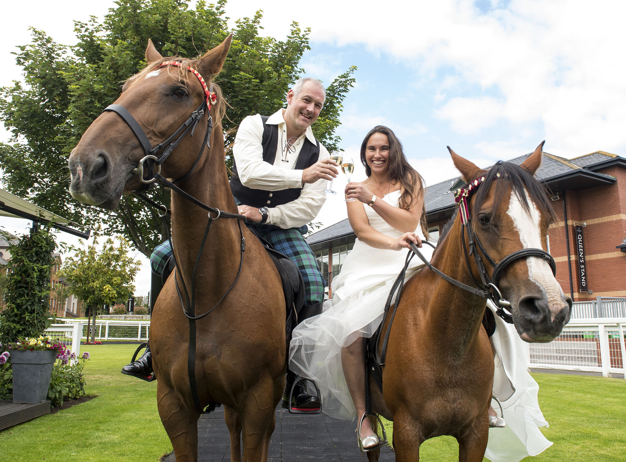 Afghanistan War Veteran Marries On Horseback Press And Journal