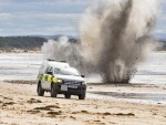 The controlled explosion on Burghead beach