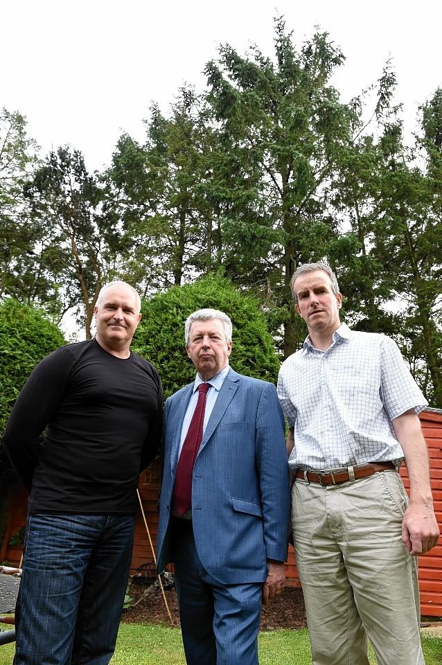 Stephen Manson, Lewis MacDonald MSP and Gordon Lamont. Picture by Jim Irvine