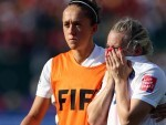 Laura Bassett, right, has received plenty of support since her injury-time own goal