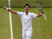 Novak Djokovic, pictured, has been backed to chase Rafael Nadal and Roger Federer's grand slam records
