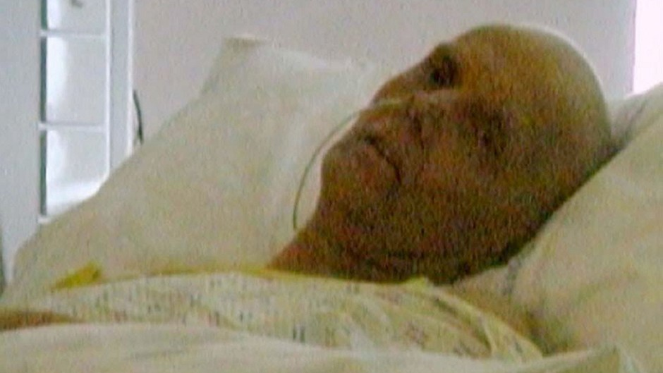 The last photo taken of poisoned spy Alexander Litvinenko alive (Litvinenko Inquiry/PA)