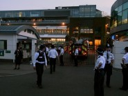 Fire engines were seen following an evacuation of Centre Court