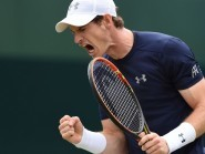 Great Britain's Andy Murray, pictured, overcame Jo-Wilfried Tsonga 7-5 7-6 (12/10) 6-2
