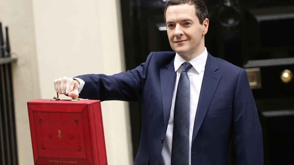 Chancellor George Osborne outside 11 Downing Street