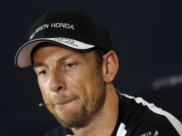 McLaren Honda's Jenson Button during Paddock Day of the 2015 British Grand Prix at Silverstone Circuit, Towcester.