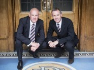 New Rangers manger Mark Warburton, left, and his assistant Davie Weir have made three signings since taking over last month