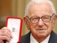Sir Nicholas Winton after being knighted by the Queen in 2003