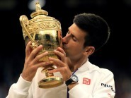 Novak Djokovic, pictured, clinched his third Wimbledon crown after beating Roger Federer
