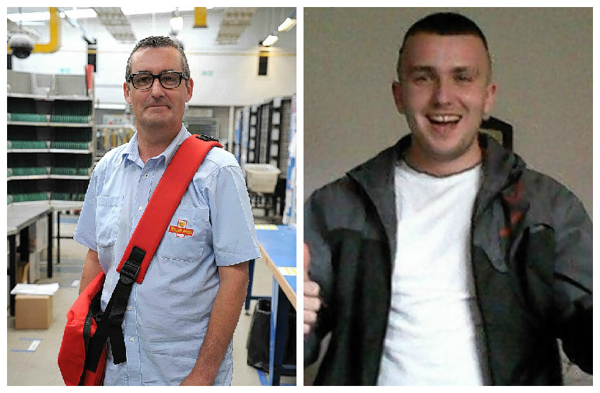 Postman Brian O'Neill is the toast of his Motherwell colleagues after he chased and caught a mugger, Gerard Wright, who had grabbed an old woman's handbag.