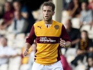 Paul Lawson in action for Motherwell