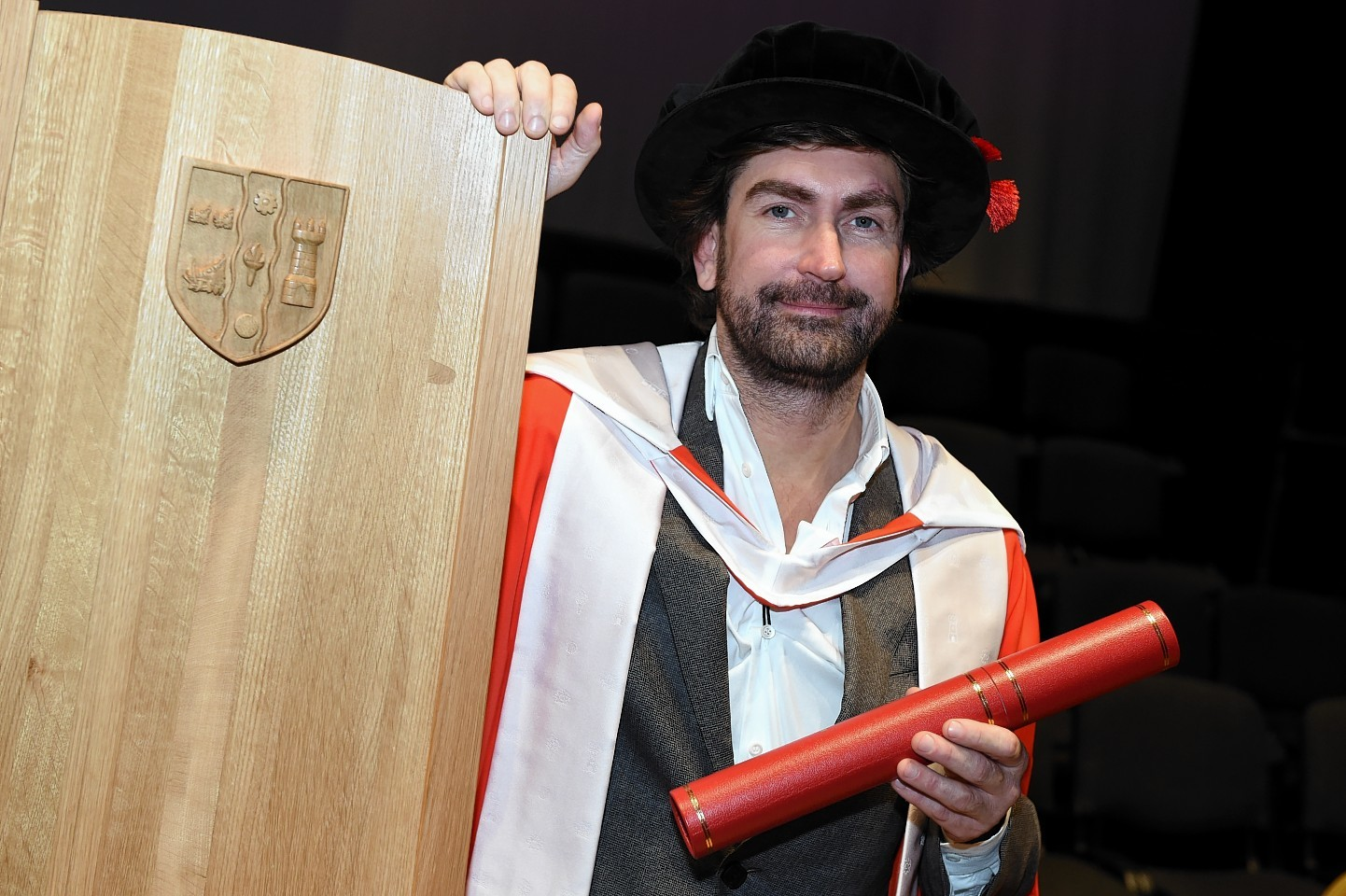 RGU Graduations at HMT friday morning ;  Pictured - Honorary grad - Leslie Benzies.      Picture by Kami Thomson    17-07-15