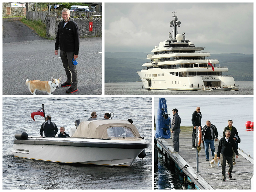 Abramovich has visited Bute and Arran and is believed to be heading to Islay next