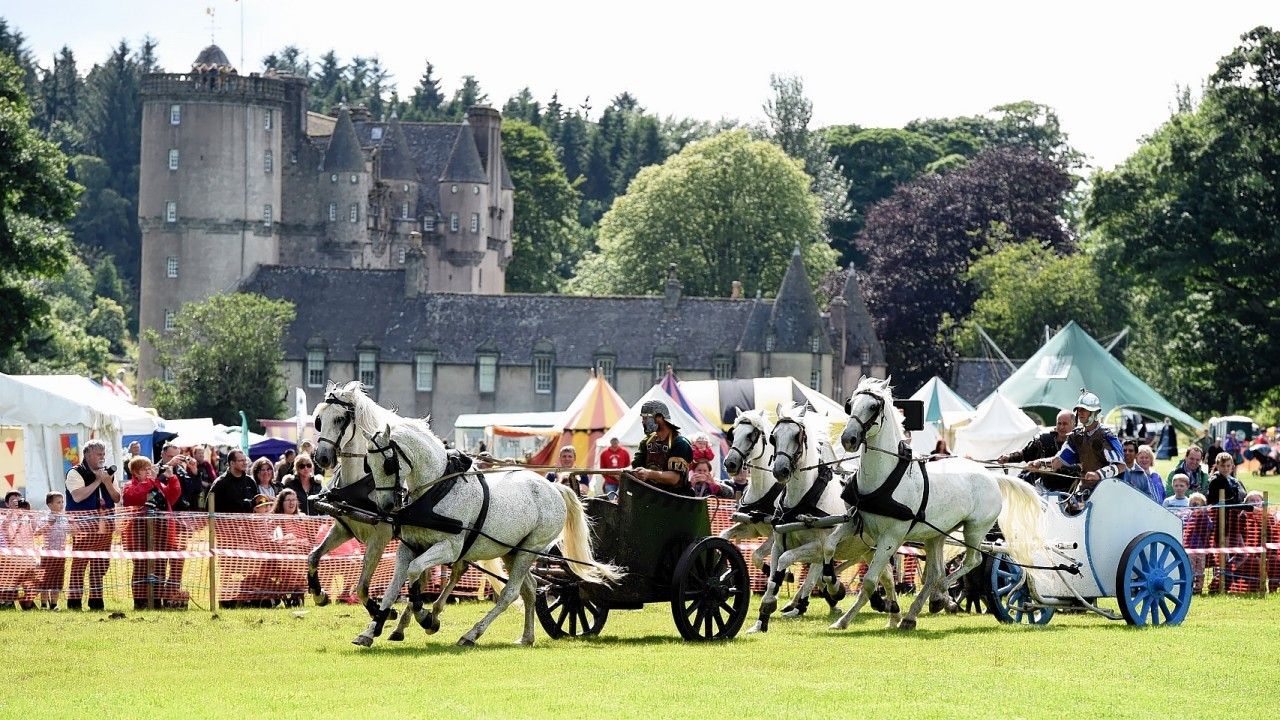 Rumbling Romans and Wicked Warriors , Castle Frasere Devil's Horsemen at Castle Fraser