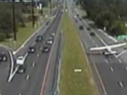 Plane makes emergency landing on dual carriageway in New Jerssey, US